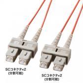 光ファイバケーブル(SC-SCコネクタ・コア径50ミクロン・マルチモード・1m)